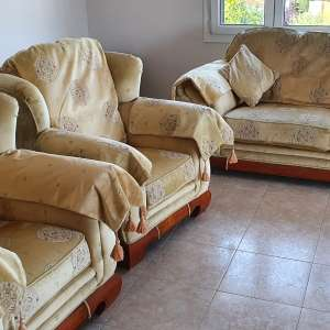 Free to anyone who wants :  3 piece sofa and chairs