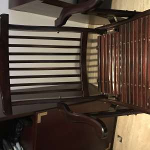 For sale: Wooden mahogany chair - perfect for desk - €40